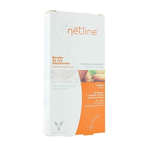 Netline Bandes Dépilatoires Hypoallergéniques Visage, Taille L 38/40, 250 ml
