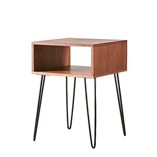 BIAOYU Comodini Tavolo da Comodino in Metallo e Legno Comodino impilabile tavolino tavolino tavola fine mobili per la casa Multifunzione per Piccoli spazi e camere da Letto Tavolino da caffè