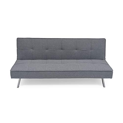 Homely - Sofá Cama de 3 plazas Apertura Clic-clac KOHTAO tapizado en Tela Gris de 176 cm