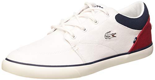 Lacoste Herren Bayliss 220 1 CMA Sneaker, Weiß (Wht/NVY/Red 407), 47 EU
