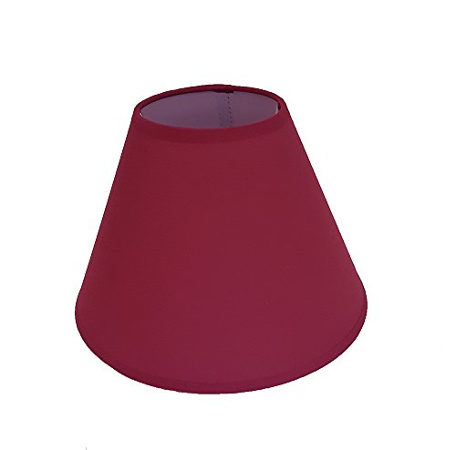 9' Coolie Ceiling Table Lamp Shade Black Cream Lt Blue Lt Green Navy Peach Red - Main Colour: Wine