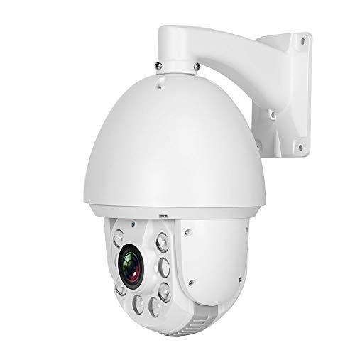 zcyg Cámara Cámara de vigilancia Cámara de Seguridad Cámara WiFi, HD 30x Zoom PTZ Cámara Coaxial CCTV 6 Soporte del Sistema De Vigilancia LED para ONVIF 100-240V2MP Enchufe De La UE