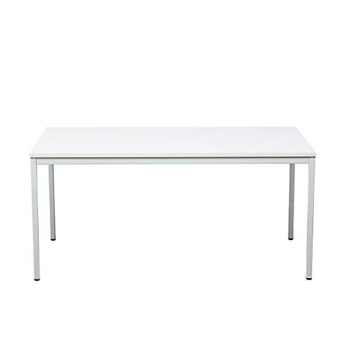 Certeo Bürotisch | Rechteckig | HxBxT 75 x 200 x 80 cm | Weiß | Schreibtisch Bürotisch Küchentisch Besprechungstisch Mehrzwecktisch