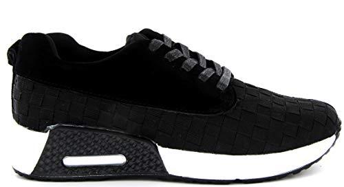 B M BERNIE MEV NEW YORK Women's Carly Shoes - Una Deportiva Zapatilla Ultra Ligera, Confort, perfercto para Caminar, con Plantilla de Memory Foam y Suela Ultra Ligero (Black, Numeric_38)