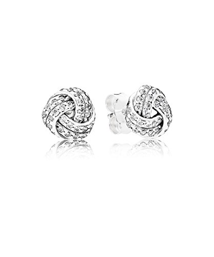 PANDORA - Pendientes nudos de amor scintillants 925/1000 plata PANDORA 290696CZ