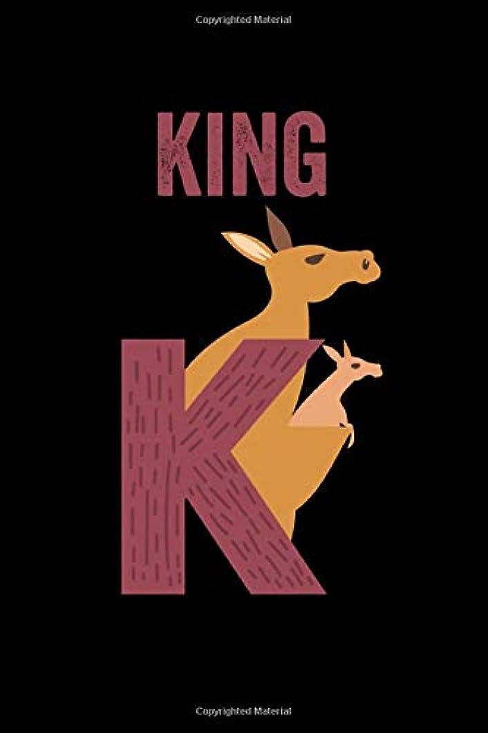 メトリック選択する疎外するKing: Journal (Diary, Notebook) Personalized Custom Name Alphabet Kangaroo Birthday Gift for Boys