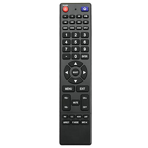 850125633 Replacement Remote Control fit for Hitachi TV LE49A6R9 LE32E6R9 LE55A6R9 LE50A3 LE32A509 LE43A6R9 LE50A6R9 LE55A6R9A LE39A309 LE43A509A LE50A6R9A LE43A509 LE49A509