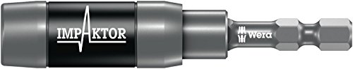 Wera 05073990001 1/4' Hex Drive Impaktor Bit Holder with Ringmagnet, Carded