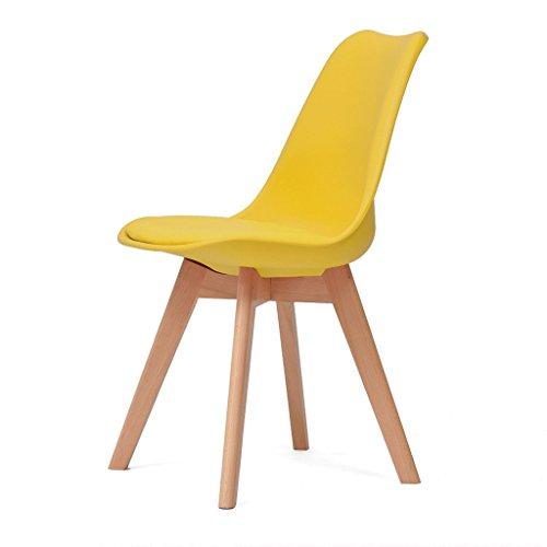Chang Xiang Ya Shop Massief hout studie bureaustoel tafels en stoelen rugleuning computer stoel thuis eetkamerstoel creatieve Eames stoel
