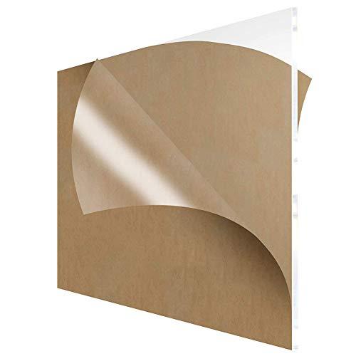 Fly-Fiber Acrylic Sheet Cast Klaren Plexiglas 10PCS transparentes Plastik Plexi-Glas DIY-Board mit Schutzpapier, Stärke 1mm,Size: 100x200mm