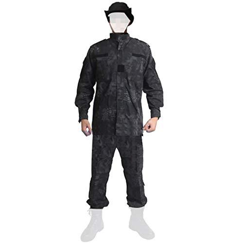COSYJIA Airsoft Shirt & Hose Anzug, Herren Camouflage Camo Combat BDU Jacke Shirt & Hose Uniform Multi-Tasche mit Gürtel für Kriegsspiel Army Military Paintball Airsoft Jagdschießen(TYP)