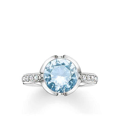 Thomas Sabo Damen-Ring 925 Silber Zirkonia weiß Gr. 52 (16.6) - TR2037-059-31-52