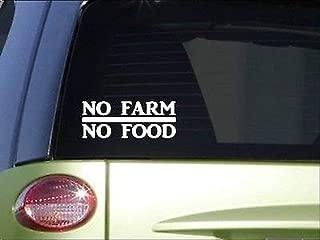 BrandVinyl No Farm No Food 8' Sticker Decal Tractor Farmer Farming Plow Parts