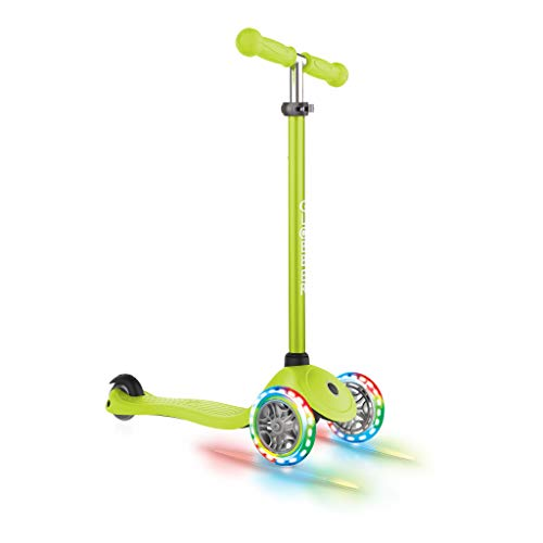 Globber Kids Primo Light Up Ruedas para Patinete, Color Verde Lima
