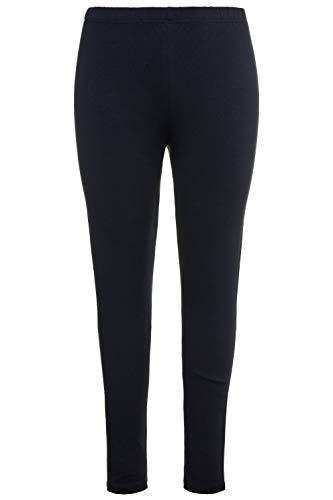 Ulla Popken Damen große Größen bis 76, Leggings aus Reiner Baumwolle, enganliegende Jersey-Hose, Skinny, Rundum-Gummibund Marine 46/48...