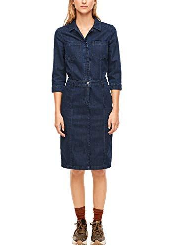 s.Oliver RED Label Damen Dark Denim-Kleid mit 3/4-Arm Blue 34