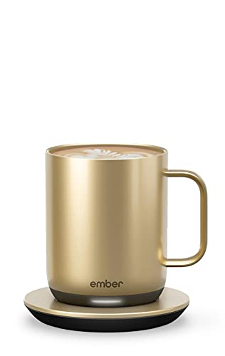 Ember Temperature Control Smart Mug 2, 10 oz, Gold, 1.5-hr...