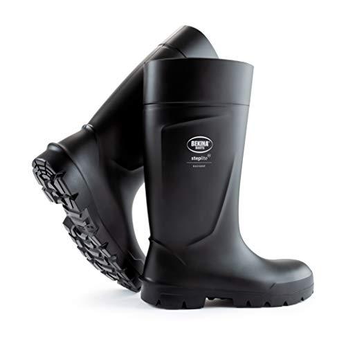 Botas de Seguridad, Masculinas, con Puntera y Suela de Seguridad de Acero, Incl. Plantilla para pies Calientes y Secos, Negras, EU 41