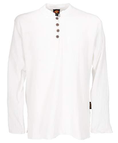 GURU SHOP Camisa de ocio, para yoga, camisa, camisa, camisa para gótica, camisa de algodón, camisas, ropa alternativa Blanco XL