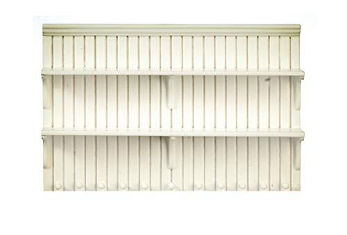 Melody Jane Dolls Houses Dollhouse White Wall Shelf Unit Shelves JBM Miniature Kitchen Furniture