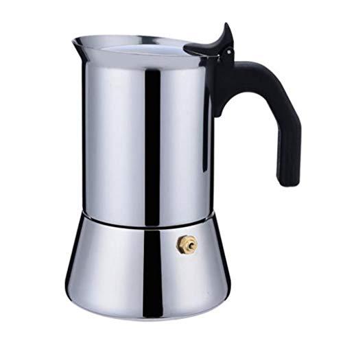 Kaffee-Vollautomaten Moka Pot Kaffeemaschine Espressomaschine Stovetop Kaffeemaschinen Edelstahl Moka Topf Italienisch Extra Strong Aroma Kaffeemaschine Haushalt Kaffeemaschine Elektroherd Kaffeemasch
