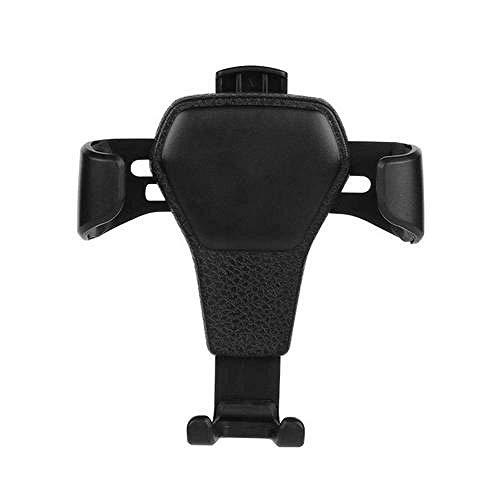 ZYZY Soporte universal para teléfono de coche, soporte de ventilación de aire, soporte para iPhone Xs max xr x soporte de teléfono-negro