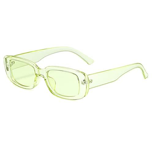 Grainas Gafas de sol rectangulares retro para mujeres hombres moda vintage marco cuadrado gafas UV 400 protección conducción gafas