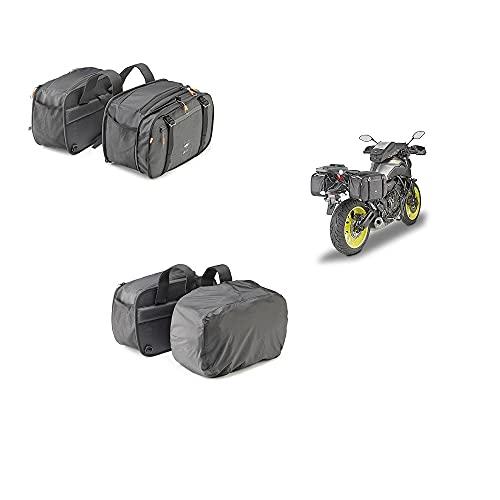 Compatible con TGB Bullet 50 Pareja Bolsa Lateral para Motos Scooter Kappa AH202 29X15>24X45CM Universal Negro