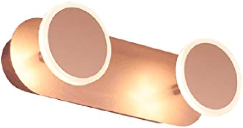 GYDD Spiegelleuchte, LED Spiegel Scheinwerfer Aluminium Acryl Wandlampen Bad Wandleuchten Make-up Beleuchtung IP44 (gre   25cm-2lamp-6W)