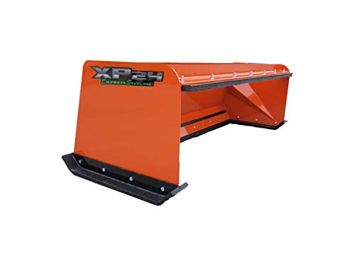 Lowest Prices! 6' XP24 Pullback Skid Steer Snow Pusher Kubota Orange