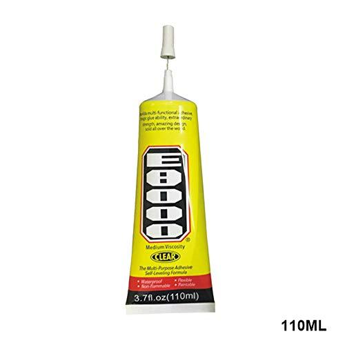 lzndeal E8000 Pegamento de sellante Adhesivo Transparente para Ropa de Diamante con Borde de teléfono DIY