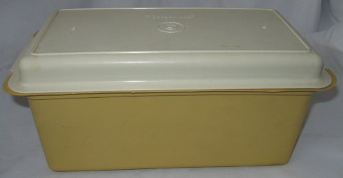 Vintage Tupperware Bread Server Cheese Server Harvest Gold With Cream Lid