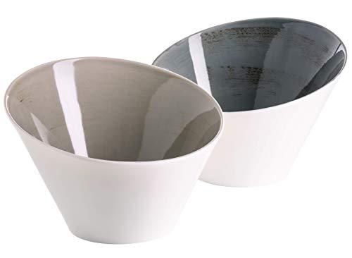 MÄSER 931450 Derby 2-teiliges Schüssel Set aus konischen, Salat-Schüsseln à 22 cm, Porzellan