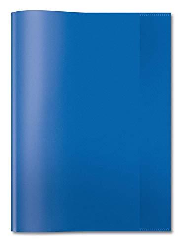 HERMA Cahier couverture PP A4Transparent/bleu foncé–Magazine et couvertures de livres (Bleu, Polypropylène (PP), mixte)
