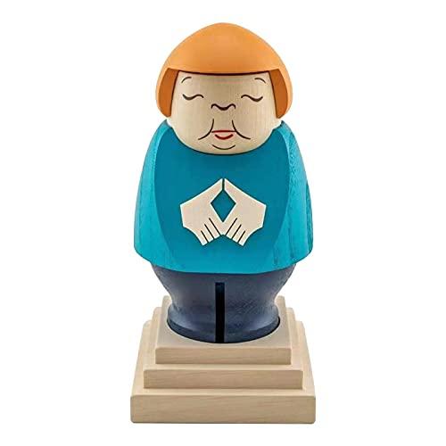 VENTDOUCE - Statua in legno fatta a mano da scrivania, piccolo ragazzo grasso ornamento decorazione per la casa in legno, decorazione artigianale per camera da letto, casa, ufficio, mensola regalo