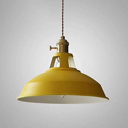WEM Lámpara colgante de techo moderna, lámpara de cobre, pantalla redonda de metal, lámpara de suspensión nórdica, lámpara colgante de latón para cocina, comedor, dormitorio, pasillo, zócalo E27,Amar