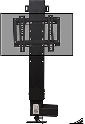 QUERT Soporte para TV eléctrico Soporte para TV Inteligente con Control Remoto Ajustable de Piso para TV de Pantalla Plana de 14'-32' (Color: Negro)