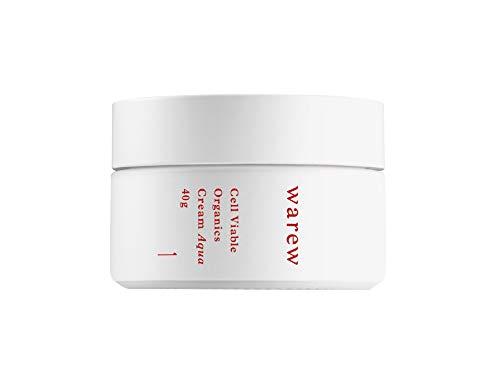 warew Cream Aqua – Crema Facial Fresca con Extractos de Plantas Médicas Japonesas, Concentrated Deep Sea Water y Extracto de Granada, 100% Made in Japan, 40g