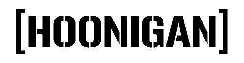 Generic [Hoonigan] Hoonigan Auto Frontscheiben Heckscheiben Aufkleber Top Sponsor Sticker Tattoo Folie (schwarz matt)