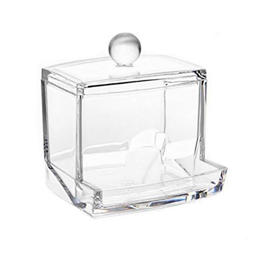 Coton-tiges acryliques boîte de support de stockage Portable maquillage transparent coton tampon cosmétique conteneur bijoux organisateur cas
