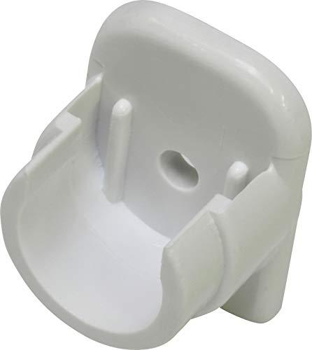 GARDINIA Wandlager für Vitragestangen/Scheibenstangen mit Ø 11-12 mm, 2 Stück, Kunststoff, Weiß