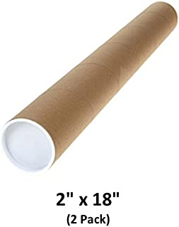 Mailing Tubes with Caps, 2 inch x 18 inch (2 Pack)   MagicWater Supply