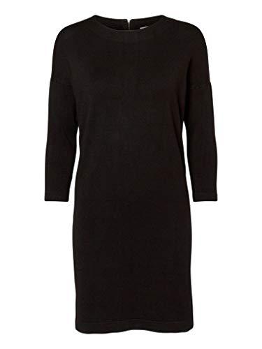 VERO MODA Damen Vmglory Vipe Aura 3/4 Dress Noos Kleid, Schwarz, S EU