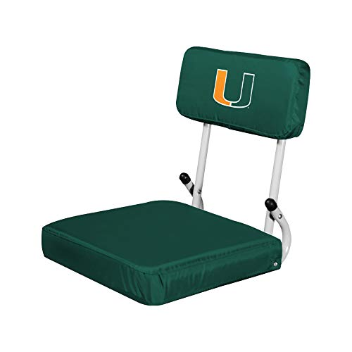 Logo Brands NCAA Miami Hurricanes Unisex Hard Back SS, One Size, Team Color