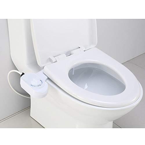 Bidet Toilettenaufsatz,WC für Intimpflege Bidet mit Reinigungsfunktion,Funktioniert ohne Strom,Reinigt deinen Hintern,Für Schwangere/Ältere/Kinder/Übergewichtige,1/2