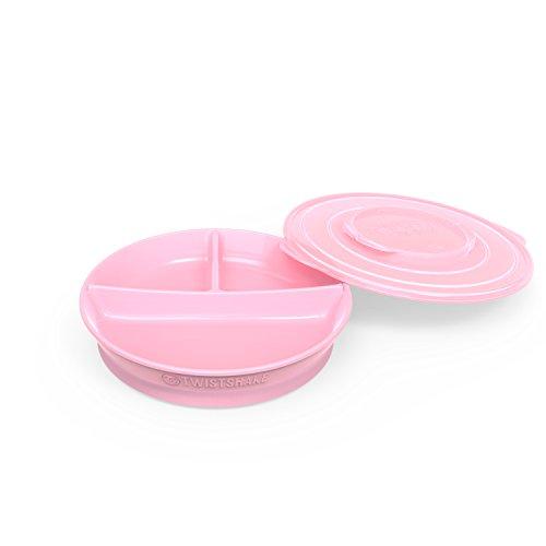 Twistshake 78169 Divide Plate, Piatto 6+ Mesi, Rosa