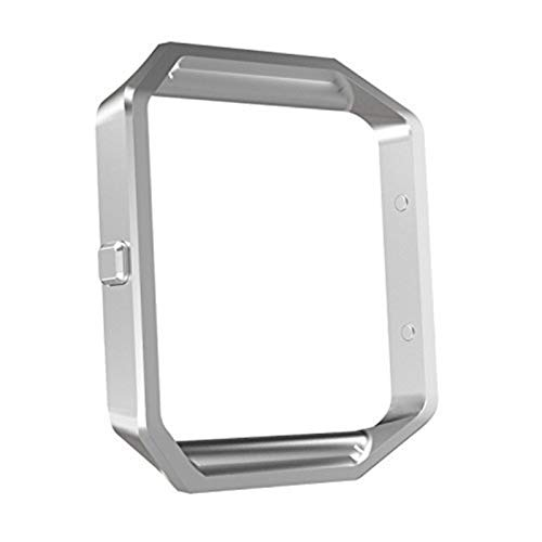 MoKo Frame Compatible with Fitbit Blaze, Stainless Steel Replacement Metal Frame Housing for Fitbit Blaze Smart Watch - Silver