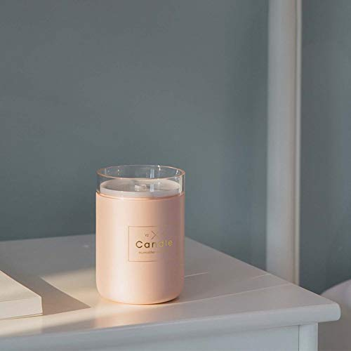 JSQZOD USB Difusor De Aceite Esencial Difusor De Aire Vela Romántica Suave Luz Coche Purificador Aroma Anión Niebla
