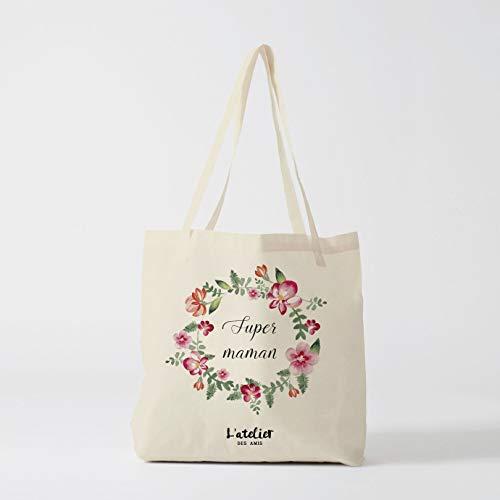 Bolso de la compra con bolsa de algodón para pañales y pañales para madres, bolsa de la compra