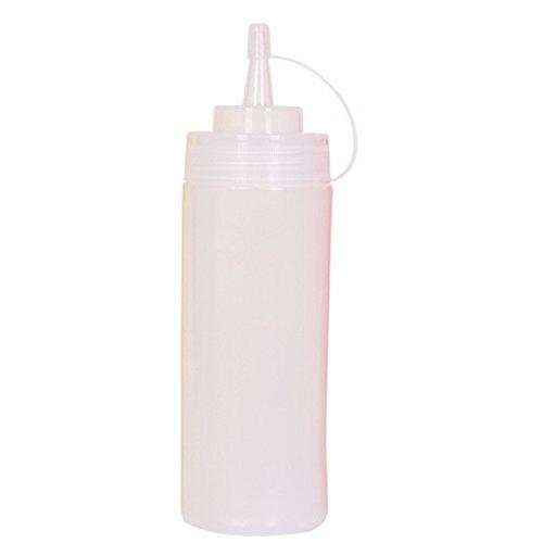 Rust Weihpe Kunststoff-Flaschen für Gewürze, Spritzflaschen, löschbarer Marker und wiederverwendbare Etiketten für Saucen, Salat, Dressings, Kunst und Handwerk (weiß-1)